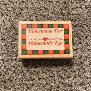 Homemade for/by Rubber Stamp